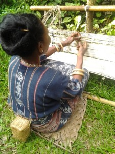 Tenun Ikat Village, See how they make Ikat, natural dye handwooven